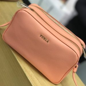 Furla Leather Small Crossbody bag Peach